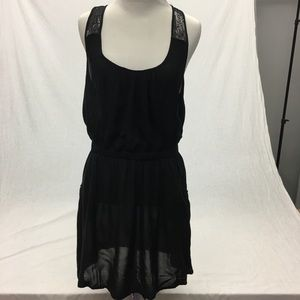 BLACK LACE SWIM COVER UP W/POCKETS SIZE SMALL NWOT
